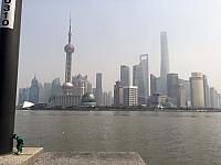 The Gorn with the Shanghai Pudong Skyline