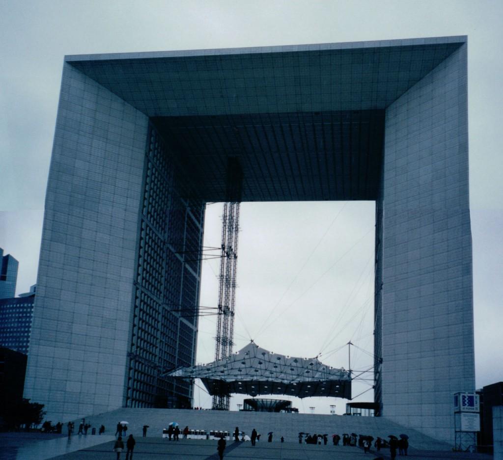La Grande Arche de La Defense with it's Willy Wonka inspired Great Glass Elevator