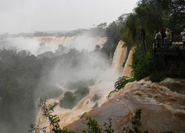 Flooded Iguazu Falls 6-9-14