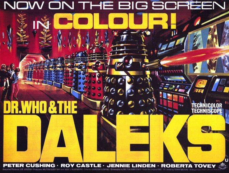 dr who daleks movie poster