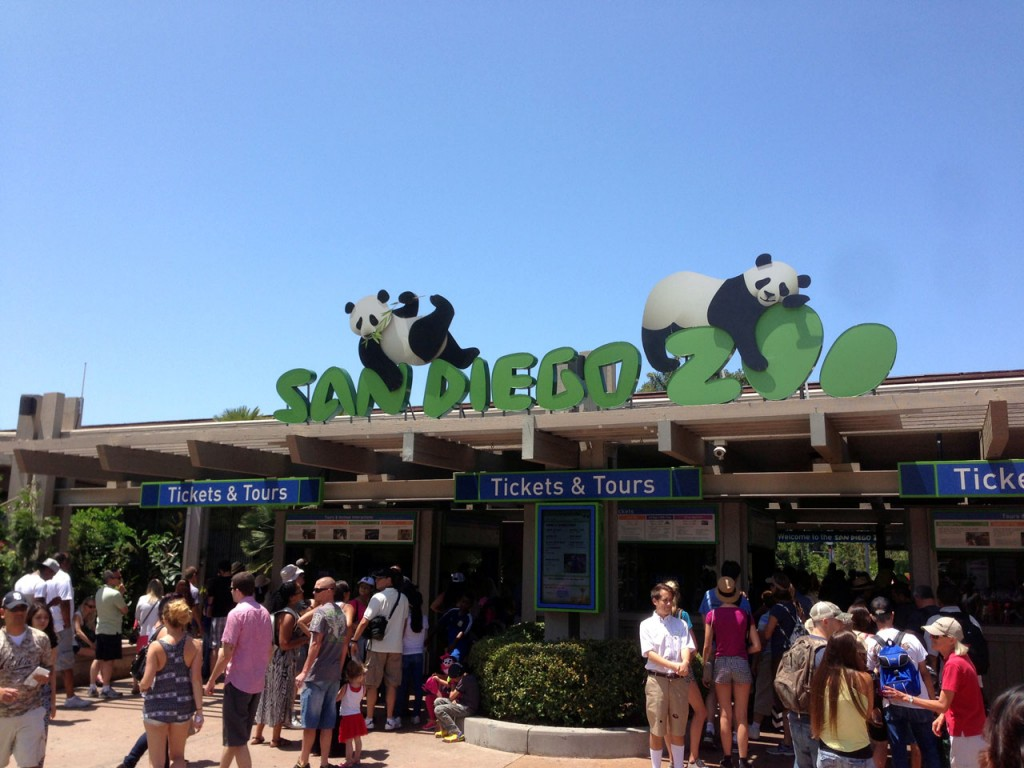 The entrance to the world famous San Diego Zoo
