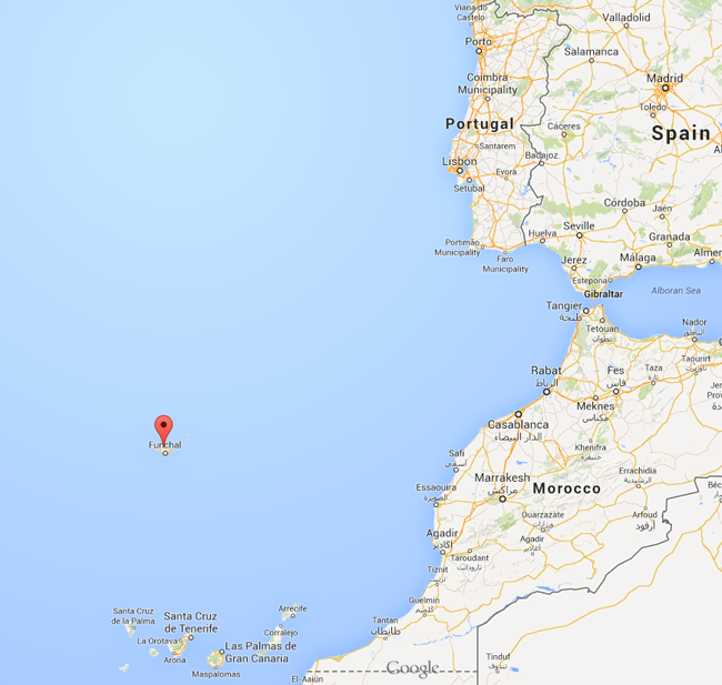 Madiera, Portugal - North of the Canary Islands and West of Morocco