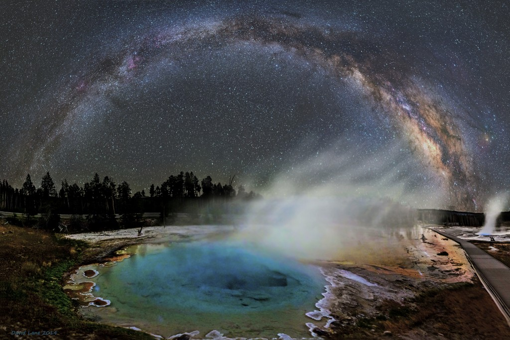 Milky Way over Yellowstone by Dave Lane