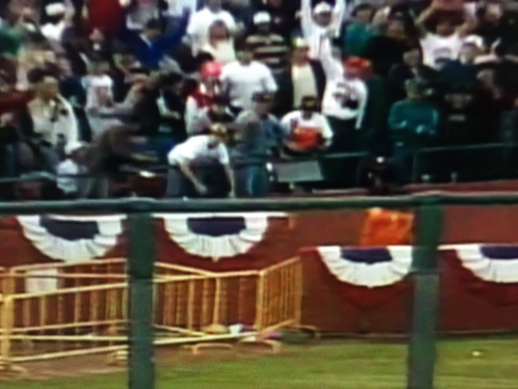 Screen Capture of Game 3 of the 1989 World Series