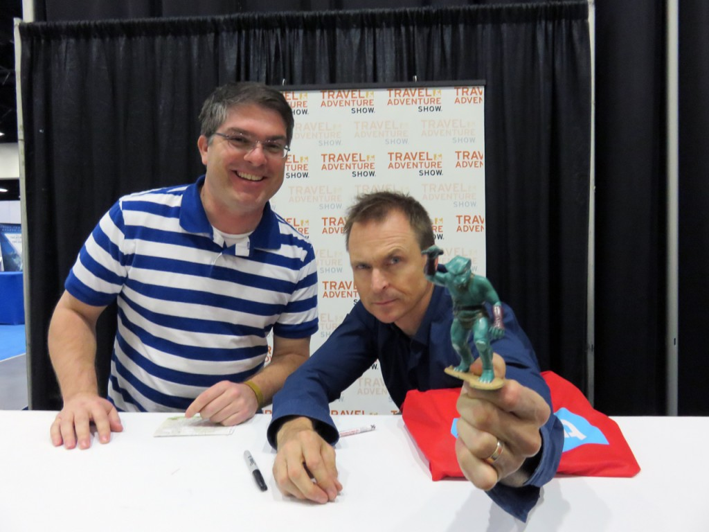 The Gorn meets Phil Keoghan, host of The Amazing Race