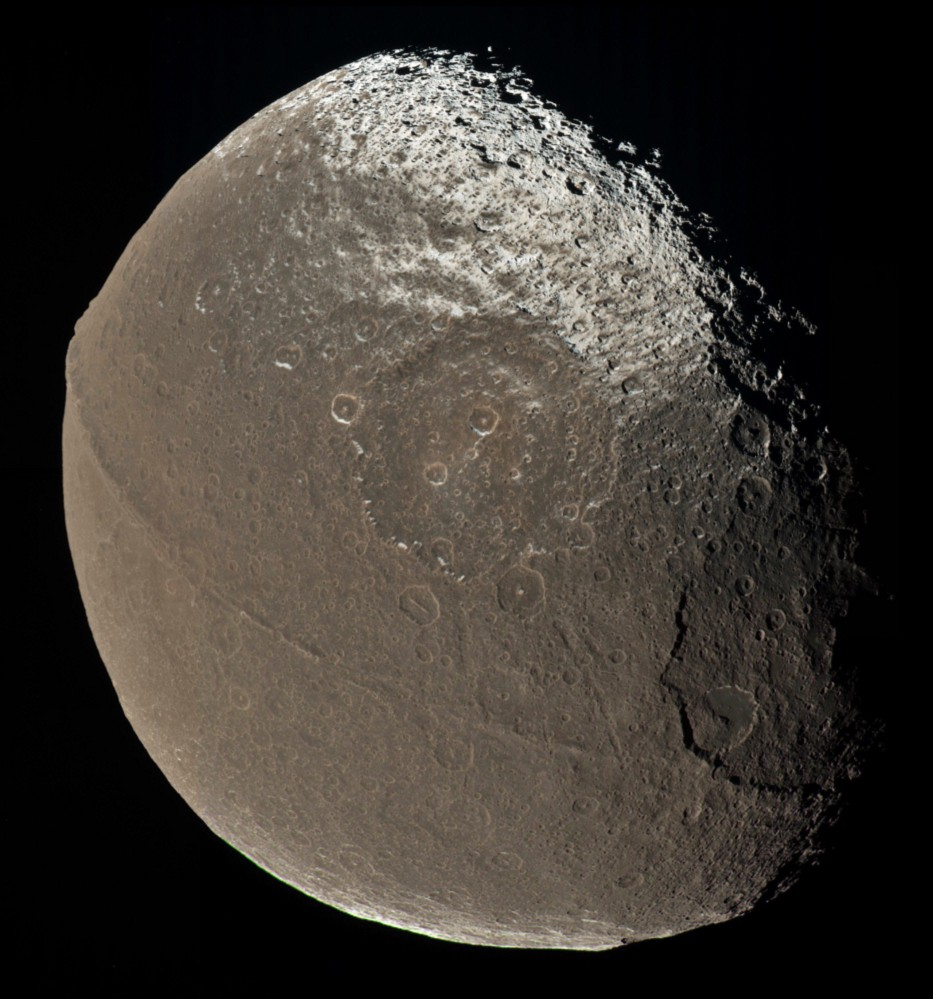 Iapetus, moon of Saturn and Acorn impersonator