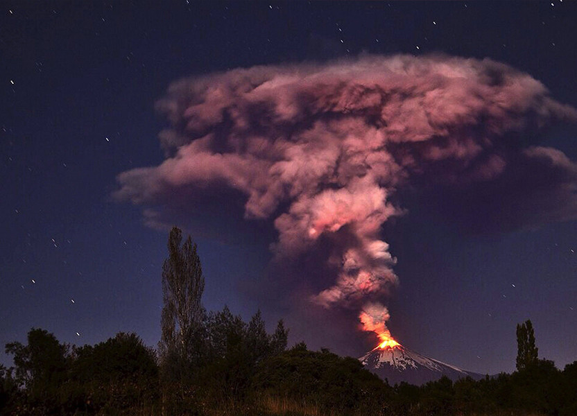 Villarica Volcano in Chile Erupts on March 4, 2015